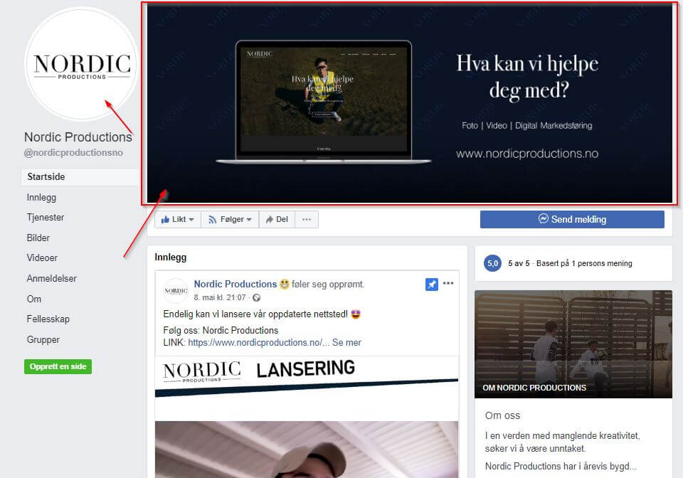 Optimaliser Facebook siden